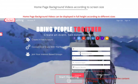 Home Page Background Videos According to Screen Sizes