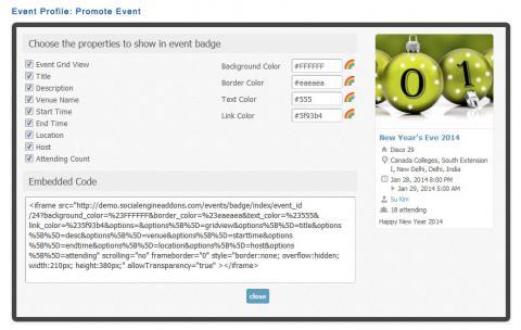 Event Profile: Promote Event