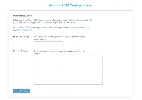 Admin: FCM Configuration