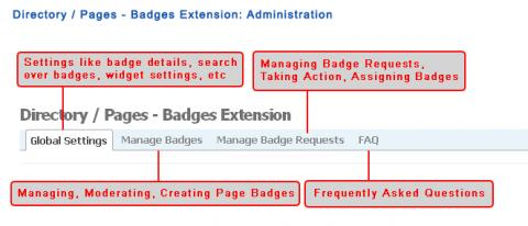 Directory / Pages - Badges Extension: Administration