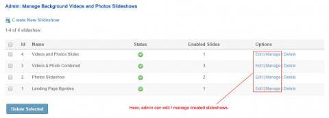 Admin: Manage Background Videos & Photos Slideshows