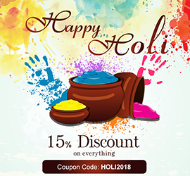 Avail 15% Holi Discount on Everything and Extended Weekend Schedule