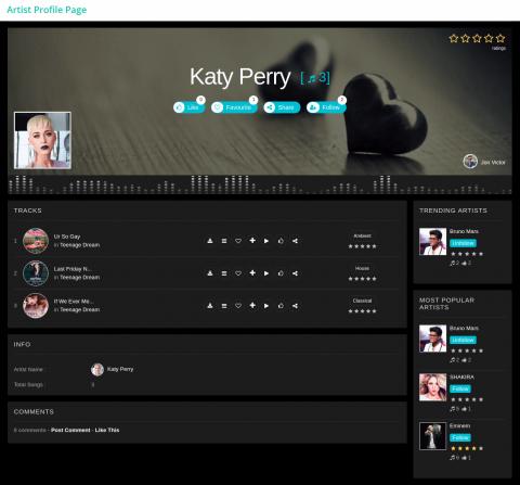 Artist Profile Page