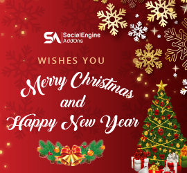 SocialEngineAddOns Wishes a Merry Christmas & Happy New Year with 20% Discount on All Purchases