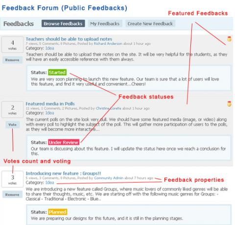Feedback Forum (Public Feedbacks)
