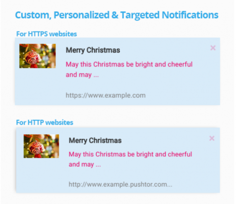 Custom, Personalized & Targeted Notifications