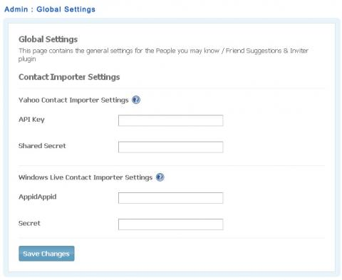 Admin : Global Settings