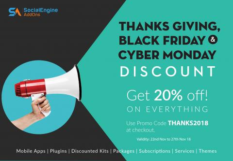 Black Friday Discount: Get 20% Off On Everything!