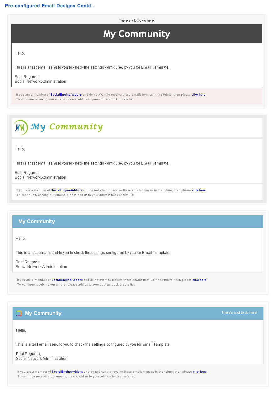 Email Templates Plugin | SocialEngineAddOns