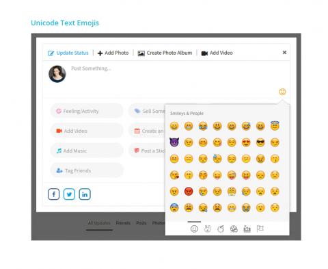 Unicode Text Emojis
