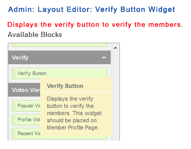 Admin: Layout Editor: Verify Button Widget