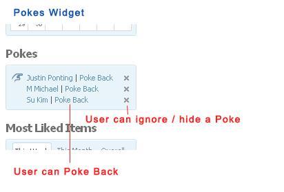 Pokes Widget