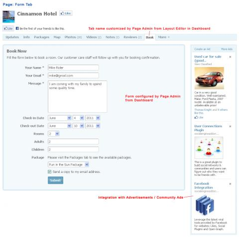 Page: Form Tab