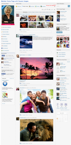 Members Home Page with Square Images