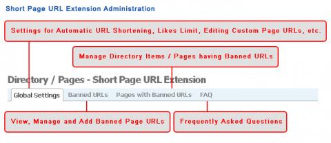 Short Page URL Extension Administration