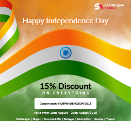 Celebrating 72nd Indian Independence Day with Flat 15% Discount on Everything