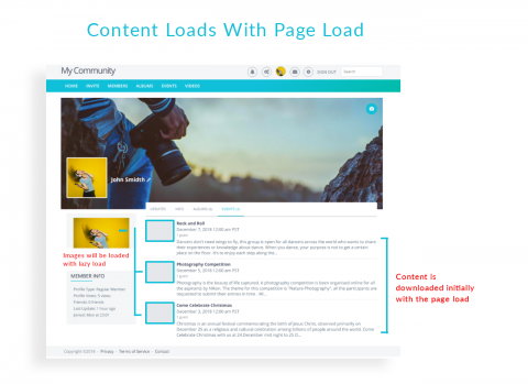 Content Loads With Page Load