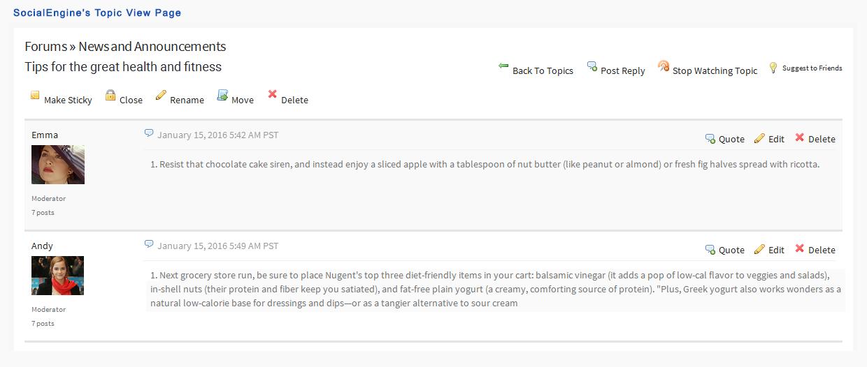 Advanced Forums Plugin   SocialEngineAddOns