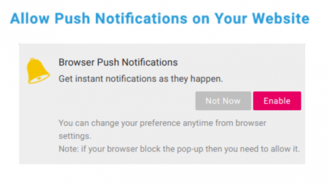 Allow Push Notifications on Your Website