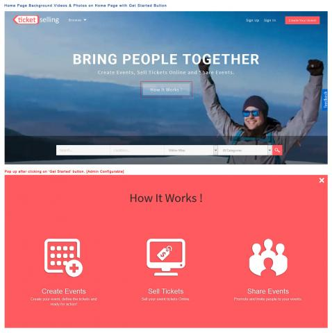 Home Page Background Videos & Photos on Home Page with Get Started Button