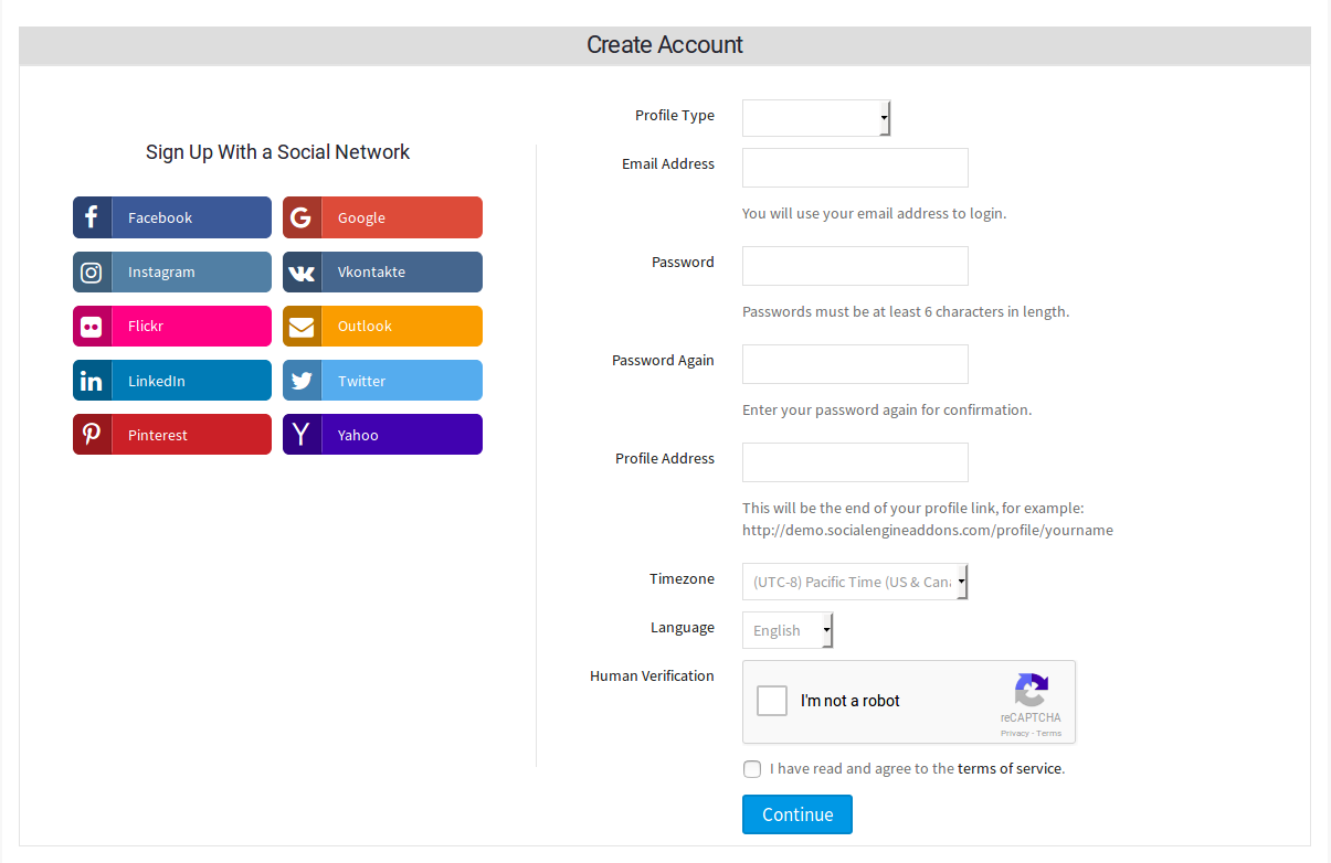 Social Login and Sign-up Plugin | SocialEngineAddOns
