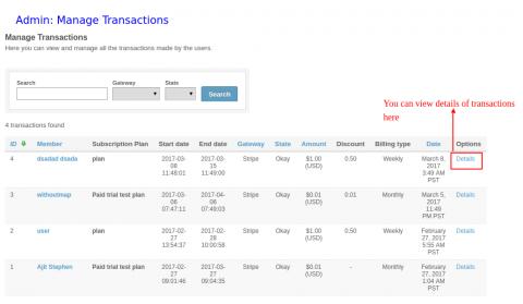Admin: Manage Transactions