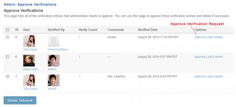 Admin: Approve Verifications