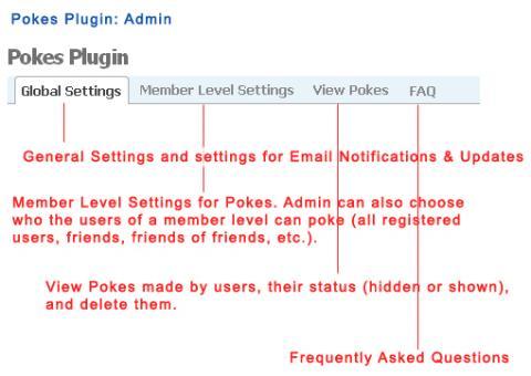 Pokes Plugin: Admin