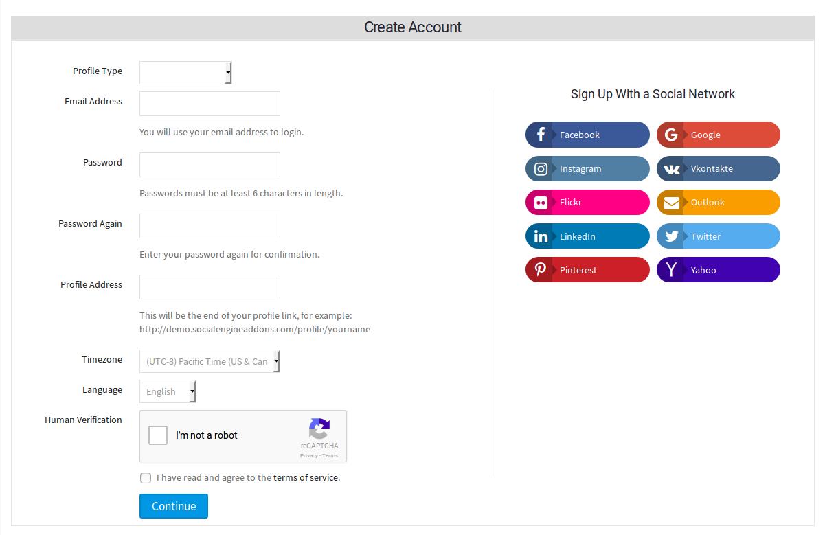 Social Login and Sign-up Plugin | SocialEngineAddOns