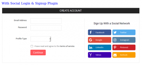 With Social Login Plugin