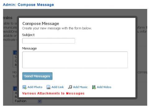 Admin: Compose Message
