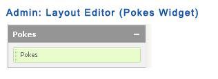 Admin: Layout Editor (Pokes Widget)