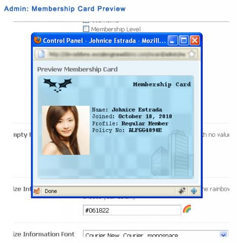 Membership Card Preview