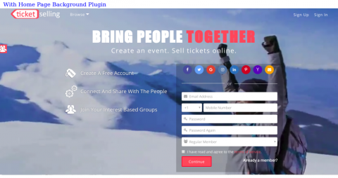 With Home Page Background Videos and Photos Plugin