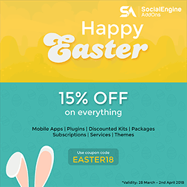 Avail 15% Easter Discount and Wishes from SocialEngineAddOns