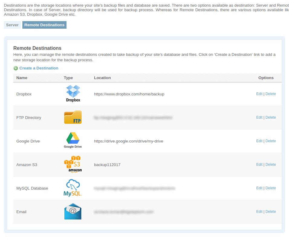 Website Backup and Restore Plugin – AWS S3, Dropbox, Google