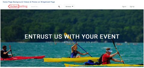 Home Page Background Videos & Photos on Widgetized Page