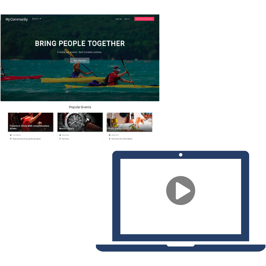 Responsive Captivate Theme and Homepage Background Videos & Photos Plugin - Product Kit