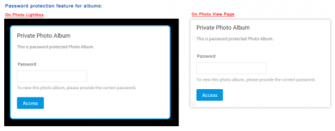 Password Protection for Photo Albums