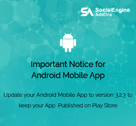 Action Required : Update your Android Mobile App to version 3.2.3