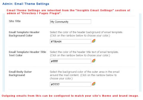 Admin: Email Theme Settings