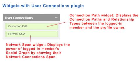 Widgets with User Connections plugin