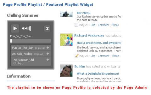 Page Profile Playlist / Featured Playlist Widget