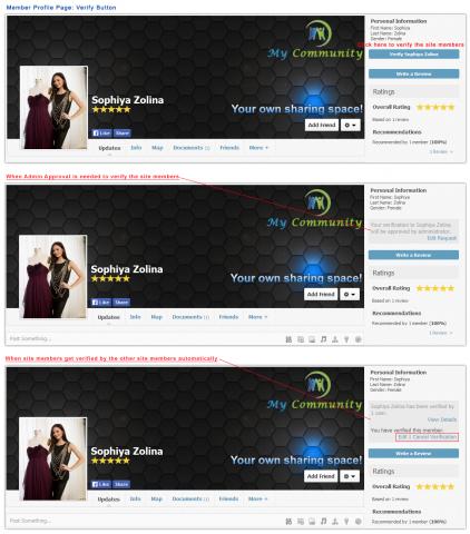 Member Profile Page: Verify Button