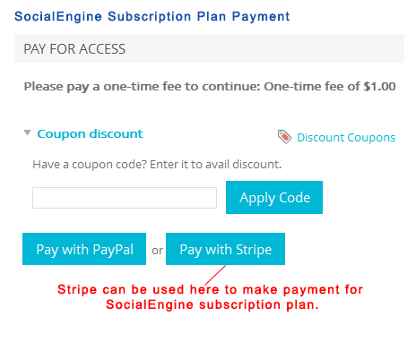 SocialEngine Subscription Plan Payment