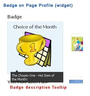 Badge on Page Profile (widget)
