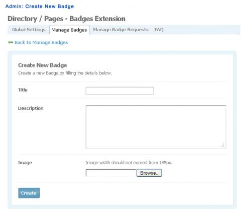 Admin: Create New Badge