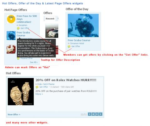 Hot Offers, Offer of the Day & Latest Page Offers widgets
