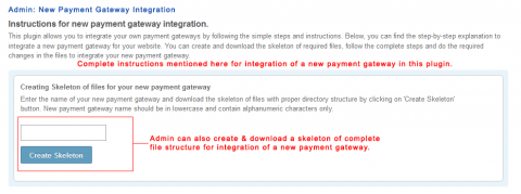 Admin: New Payment Gateway Integration