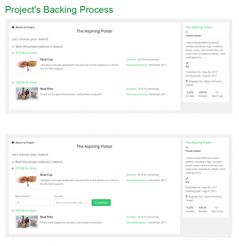 Proejct's Backing Process